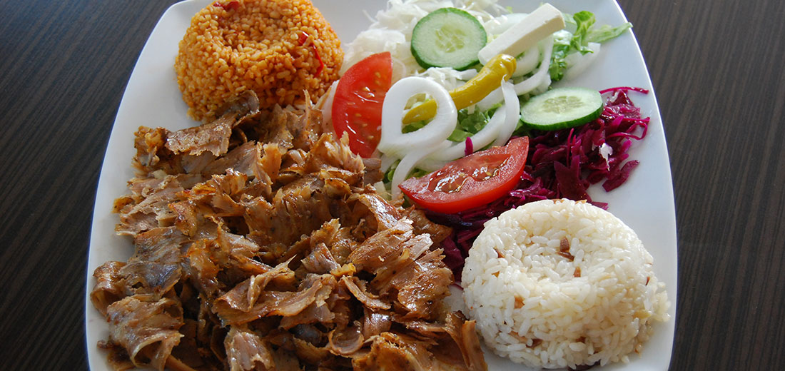 D�ner kebab made from premium meat